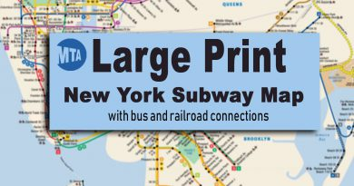 Large Print New York Subway Map