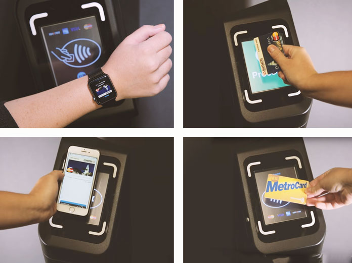 NYC subway riders can verify one of four ways Smartcard, Smartphone, Smart watch or Chip enabled card