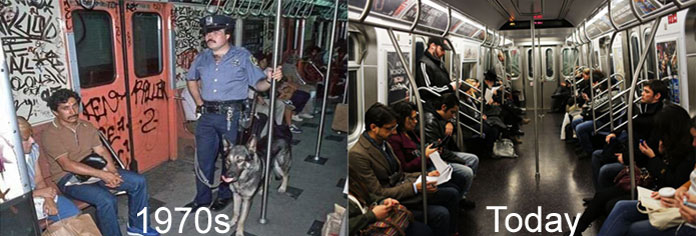 subway safety 1970s vs today