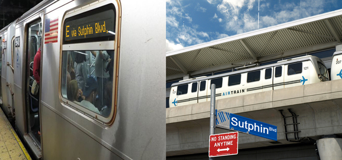 subway train and airtrain via sutphin