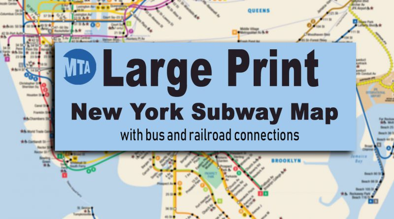 Queens And Manhatan Subway Map.New York City Subway Map For Large Print Viewing And Printing