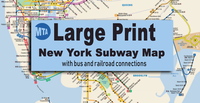 Printable Metro Map.New York City Subway Map For Large Print Viewing And Printing