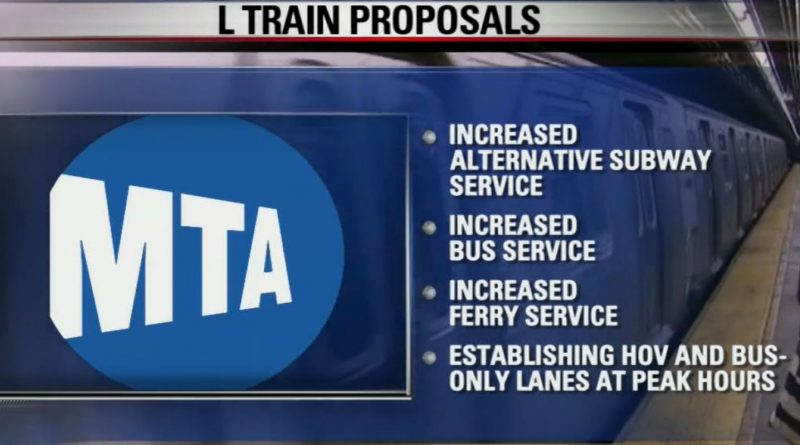 NYC Subway L Train Shutdown Proposals