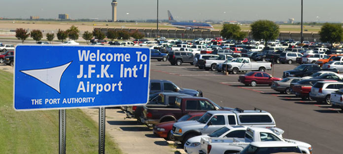 jfk airport parking lot sign