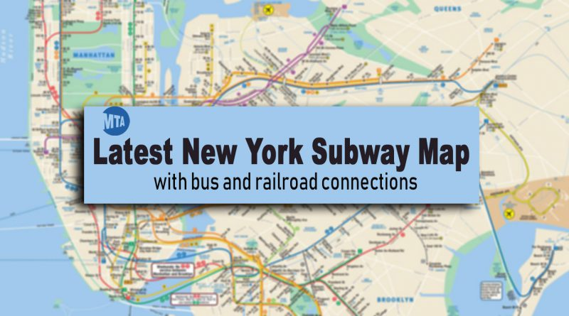 Subway Map New York Manhatten.New York Subway Map Latest Version With Line And Station Changes
