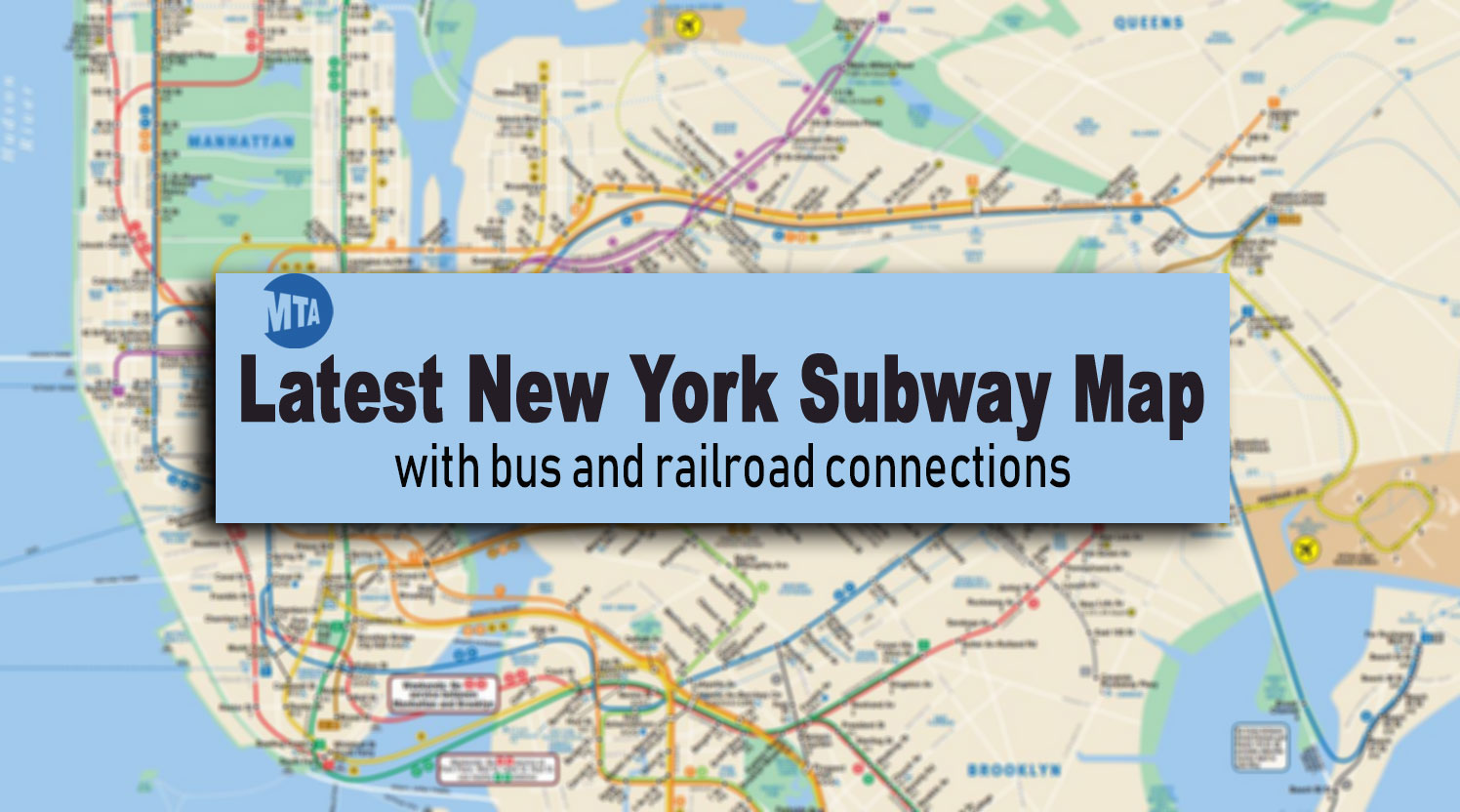 Subway Maps Of Nyc.New York Subway Map Latest Version With Line And Station Changes