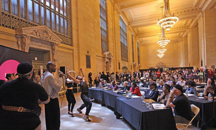 New York Subway Performers Audition at New York Public Library