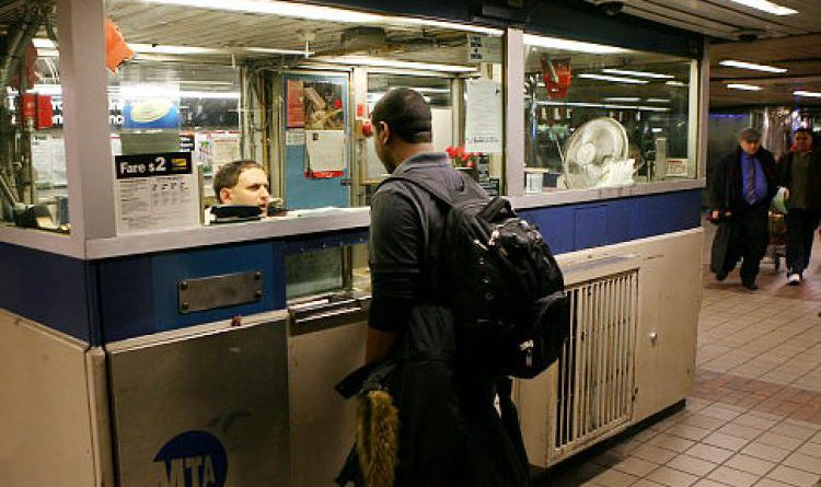 Subway station booth