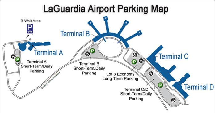 Laguardia Airport Subway Map.Laguardia Airport Parking Parking Options Including Lots And Garages