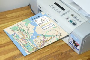 printing New York Subway Map