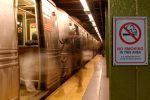 no smoking on ny subway platform