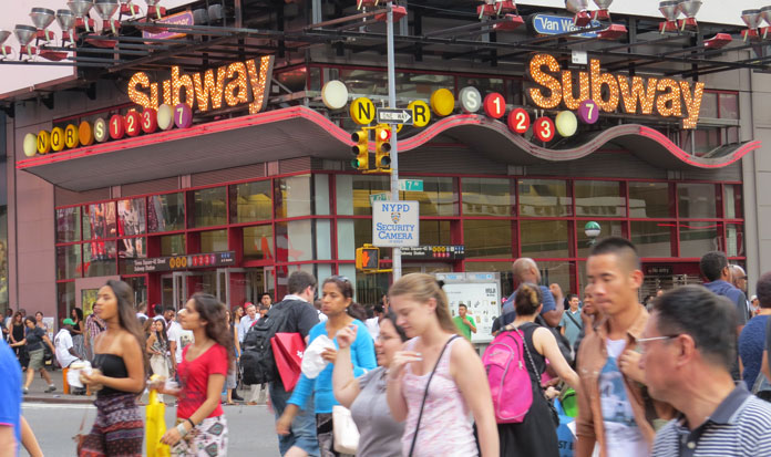 new york subway questions the busiest station times square and 42nd street subway station