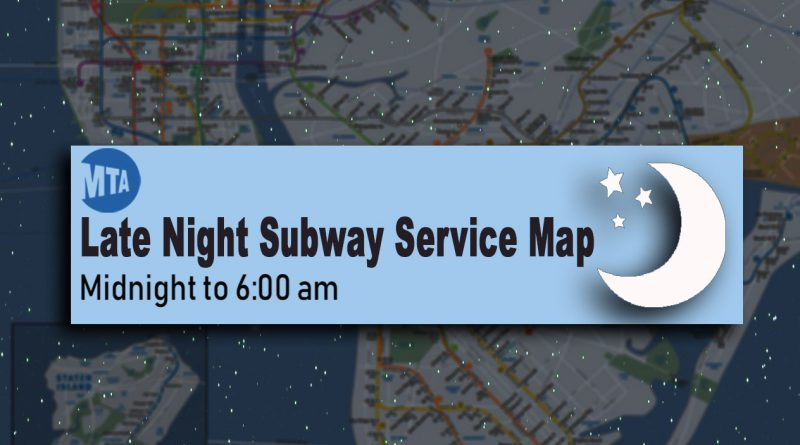 Late Night Subway Service Map
